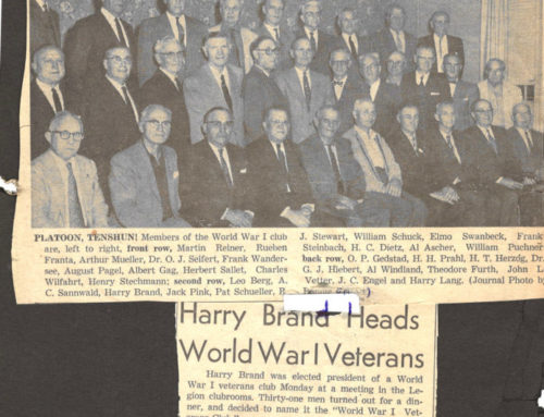 HARRY BRAND HEADS WORLD WAR 1 VETERANS