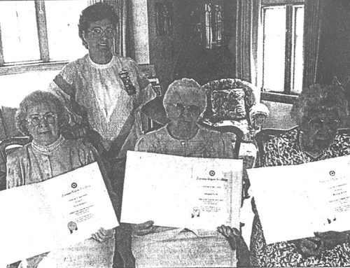 LEGION AUXILIARY HONORS 75-YEAR MEMBERS