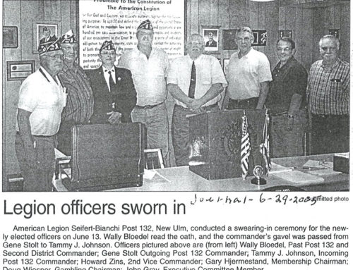 LEGION OFFICERS SWORN IN FOR  2005-6