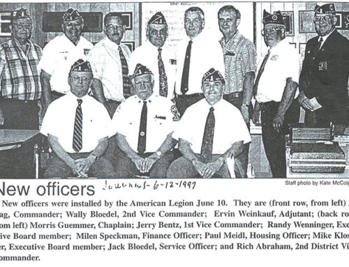 NEW OFFICERS 1997-8
